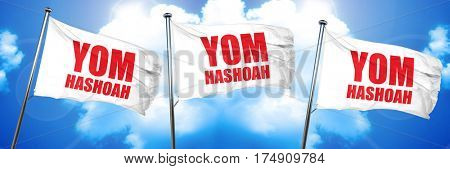 yom hashoah, 3D rendering, triple flags