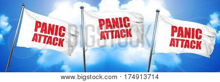 panic attack, 3D rendering, triple flags