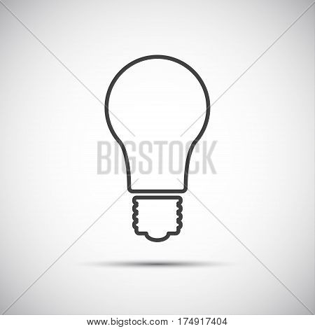 Light bulb line vector icon isolated on white background