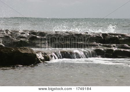 Ocean Spray On Rocks