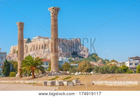The Columns Of Olympian Zeus Temple