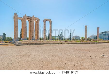 The Ruined Temple Of Olympian Zeus