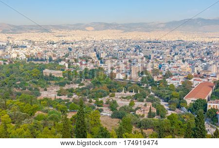 The Cityscape Of Athens