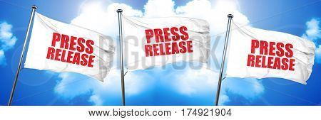 press release, 3D rendering, triple flags
