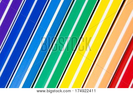 Colorful Background Of Pencils And Color Pens