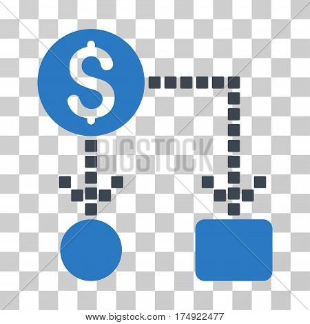 Cashflow icon. Vector illustration style is flat iconic bicolor symbol smooth blue colors transparent background. Designed for web and software interfaces.
