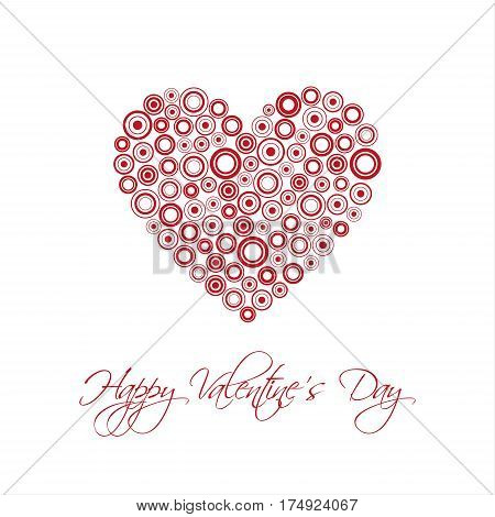 Happy Valentines day card with abstract heart Be my Valentine background vector illustration
