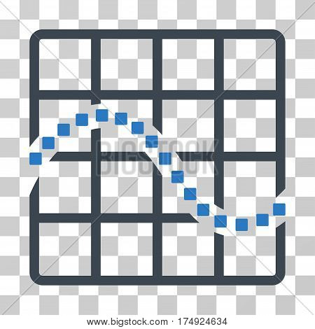 Function Chart icon. Vector illustration style is flat iconic bicolor symbol smooth blue colors transparent background. Designed for web and software interfaces.