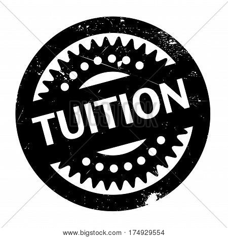 Tuition rubber stamp. Grunge design with dust scratches. Effects can be easily removed for a clean, crisp look. Color is easily changed.