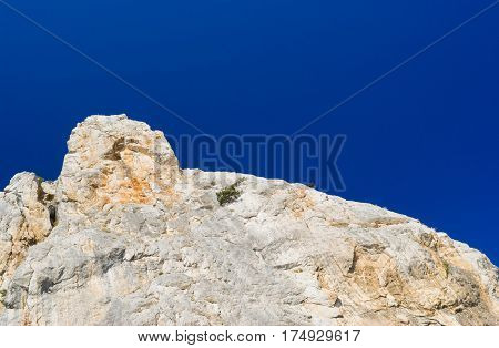 Sheer cliff on a Cat Mountain (composite monument of nature near Simeaz Crimea Ukraine)