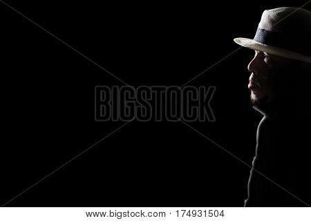 Depressed And Hopeless Man Alone In The Dark