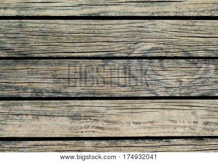 Grey wood background. Natural wood texture with horizontal lines. Wooden background for banner. Timber texture closeup. Horizontal wooden planks of floor backdrop photo. Natural material for banner