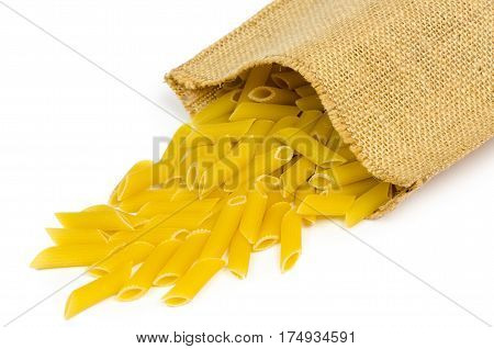 Spilled Pasta From Durum Wheat. Italian Cuisine Healthy Eating.