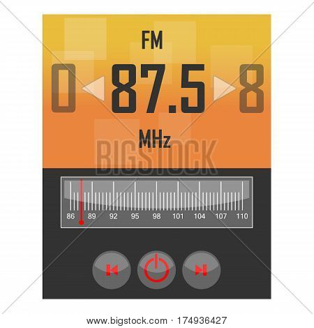 Radio application template. This is a vector illustration that you can use for electronic applications.
