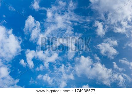 Clouds. White clouds. Cloudy day. Blue Sky.