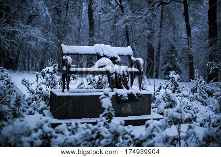 It's Snowing In The Alexandria Park. Bila Tserkva.