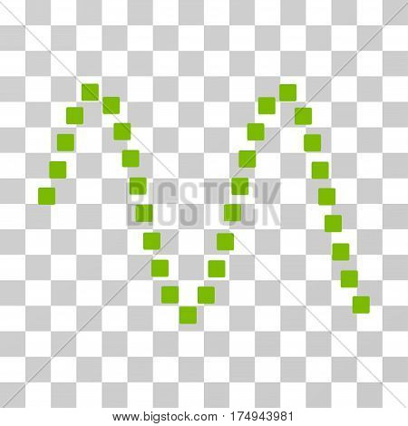 Sinusoid icon. Vector illustration style is flat iconic symbol, eco green color, transparent background. Designed for web and software interfaces.