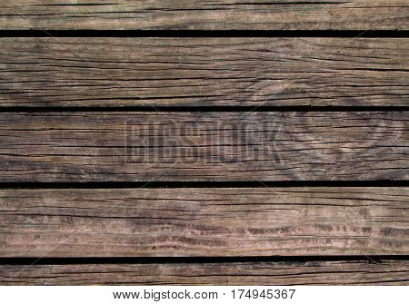 Grunge wood background. Natural wood texture with horizontal lines. Wooden background for banner. Timber texture closeup. Horizontal wooden planks of floor backdrop photo. Natural material for banner