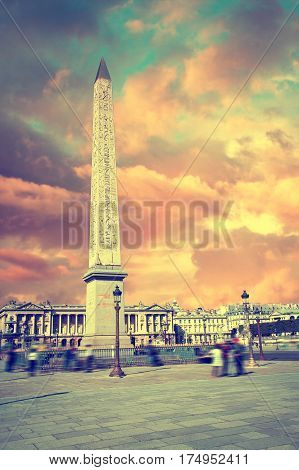 Place de la Concorde in Paris France