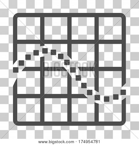 Function Chart icon. Vector illustration style is flat iconic symbol, gray color, transparent background. Designed for web and software interfaces.