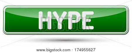 Hype - Abstract Beautiful Button With Text.
