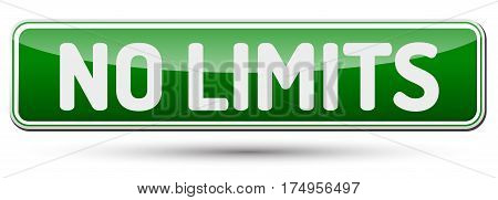 No Limits - Abstract Beautiful Button With Text.
