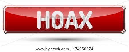 Hoax - Abstract Beautiful Button With Text.