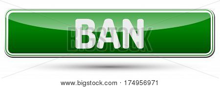 Ban - Abstract Beautiful Button With Text.