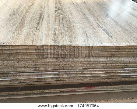 Wood grain and brown melamine surface coat.