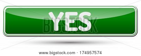 Yes - Abstract Beautiful Button With Text.