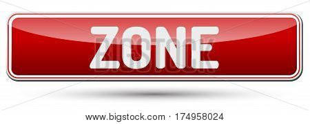 Zone - Abstract Beautiful Button With Text.