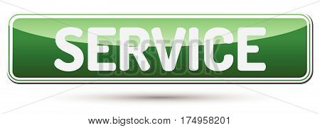 Service - Abstract Beautiful Button With Text.