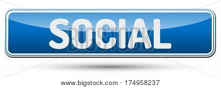 Social - Abstract Beautiful Button With Text.