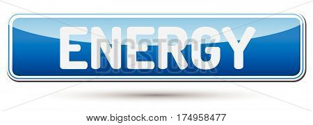 Energy - Abstract Beautiful Button With Text.