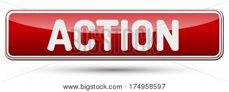 Action - Abstract Beautiful Button With Text.