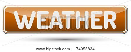Weather - Abstract Beautiful Button With Text.