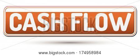 Cash Flow - Abstract Beautiful Button With Text.