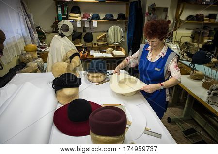 Factory For The Manufacture Of Hats.