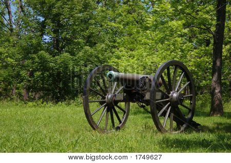 Civil War Cannon At Wilsons Creek