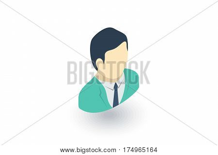 surgeon doctor isometric flat icon. 3d vector colorful illustration. Pictogram isolated on white background