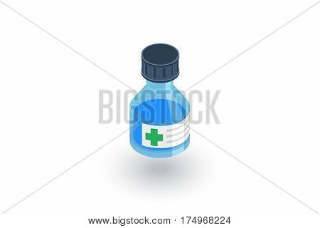 Mixture. Medical isometric flat icon. 3d vector colorful illustration. Pictogram isolated on white background