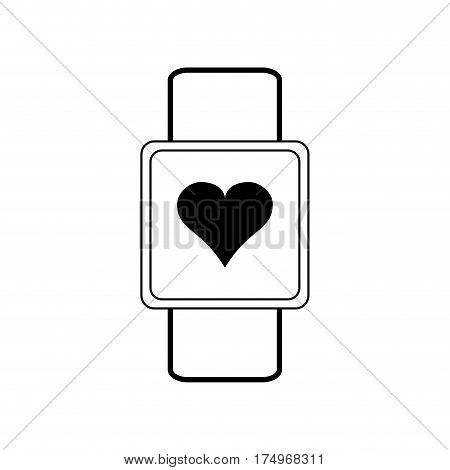heart rate wrist monitor icon image vector illustration design
