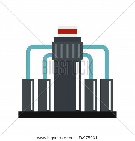 Oil refining icon isolated on white background vector illustration
