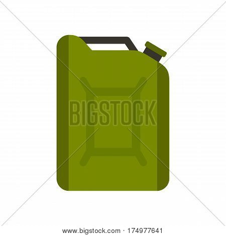 Flask for gasoline icon isolated on white background vector illustration