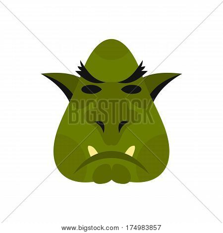 Head of troll icon isolated on white background vector illustration