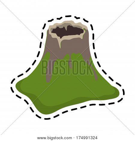 volcano crater icon image vector illustration design