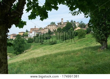 Neive, Italy - 17 July 2010: The Village of Neive in Piedmont, Italy