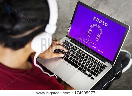Music Audio Headphones Sign Symbol