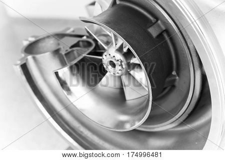 Turbocharger Structure Close Up