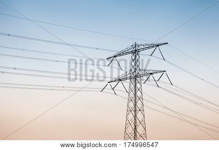 Transmission Power Tower Over Sky